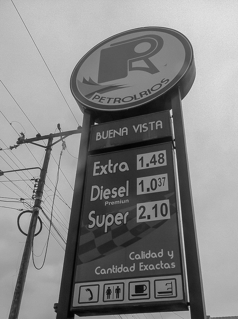 Gas prices in Ecuador!
