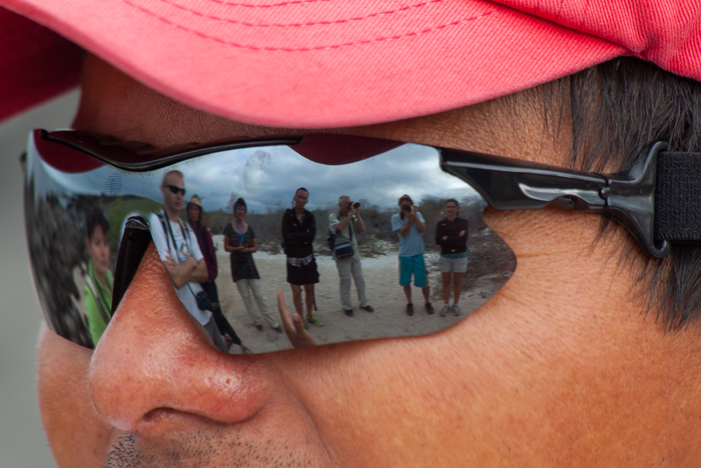 Our tour group in Leo's eyes.