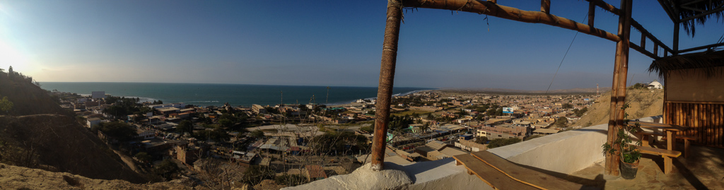 The view from our hilltop hostel, Mancora.