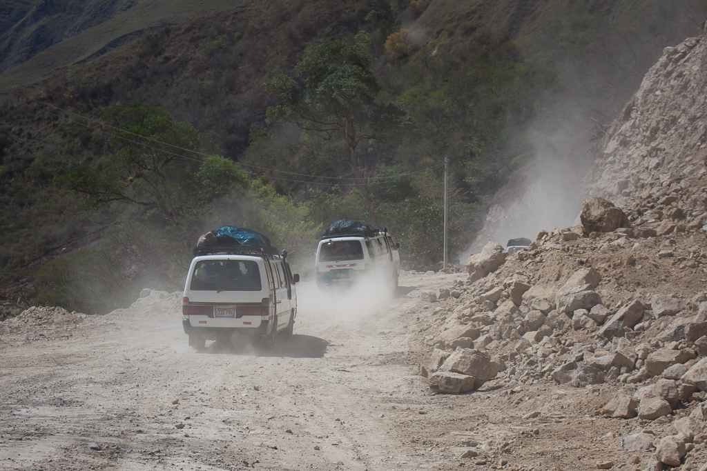 Typical Peruvian road.