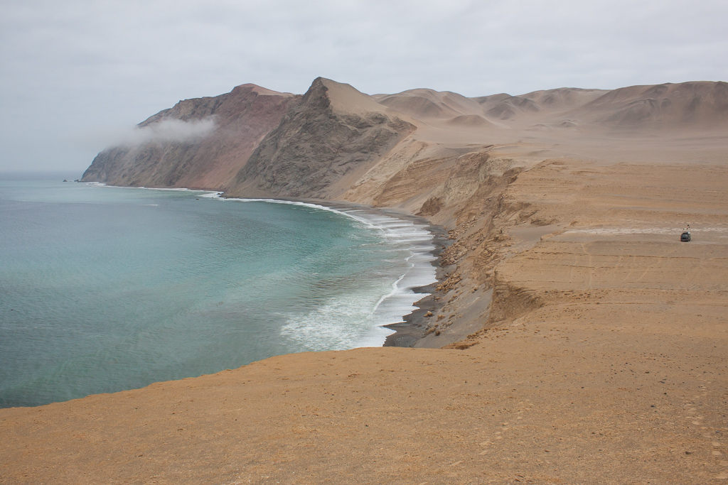 Spectacular camp site in Paracas National Reserve.