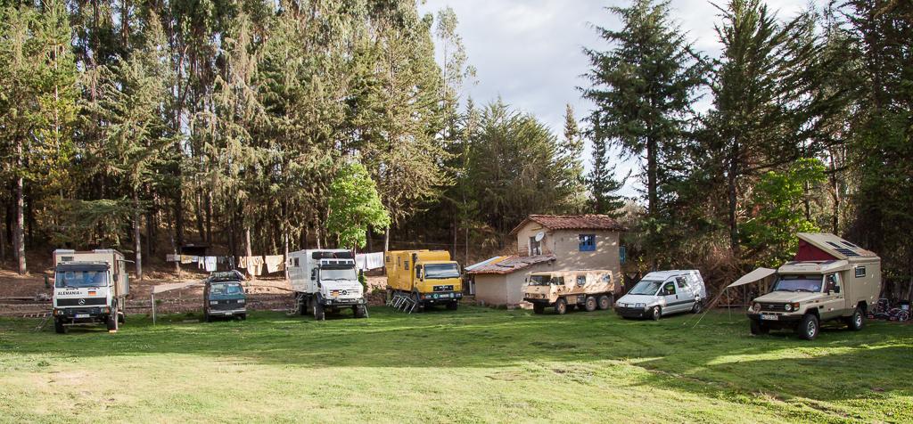 Overlander hotspot just outside of Cusco.