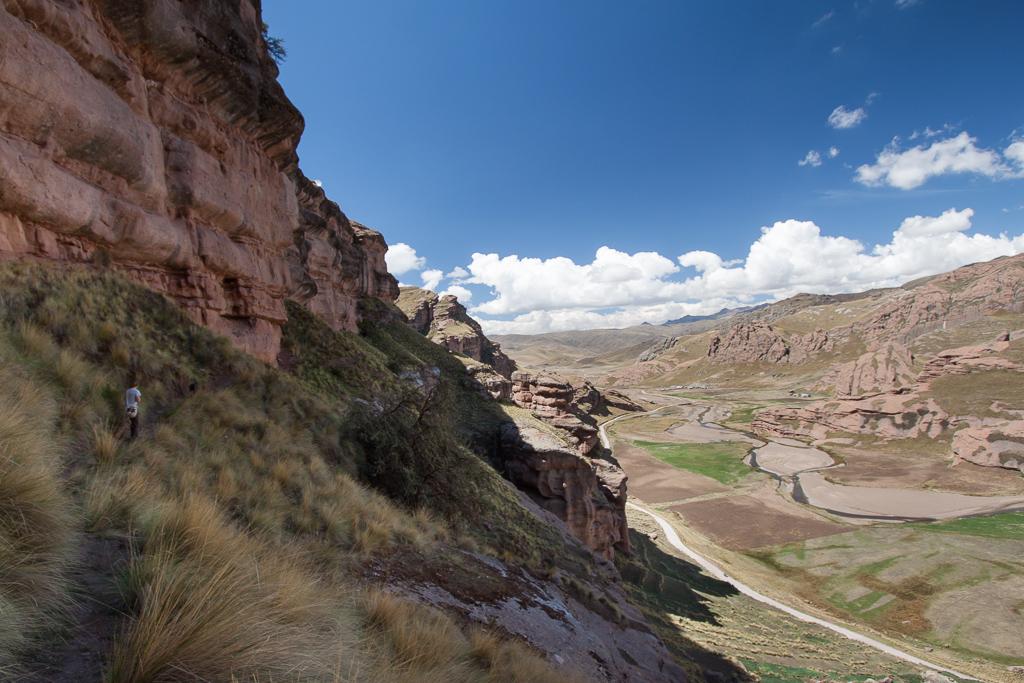 Hiking in Tinajani Canyon.