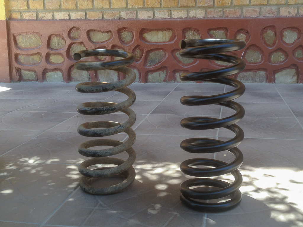 Old and new springs.