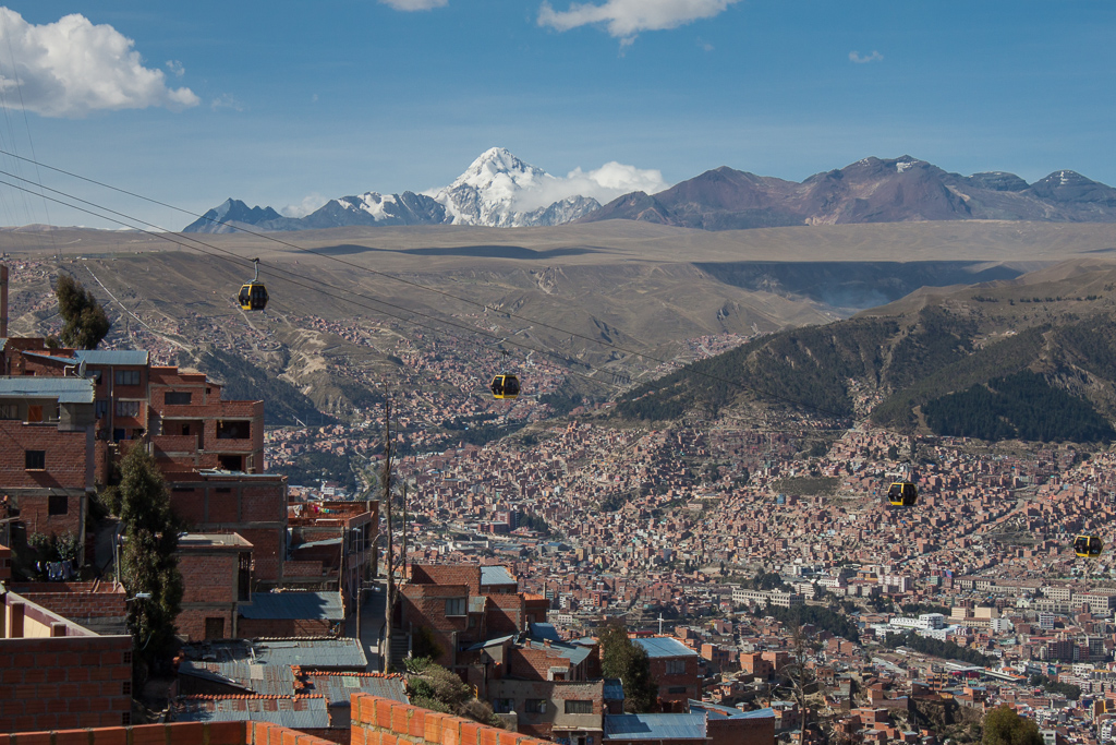 The valley that La Paz sits in.
