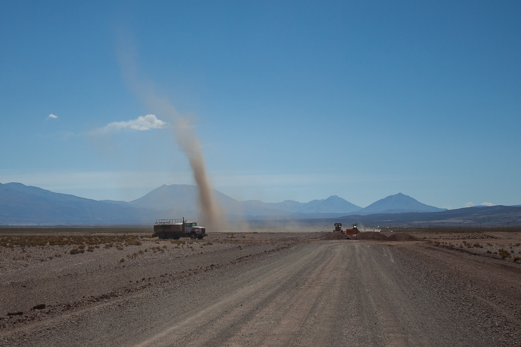 One of the many dust devils we encountered.