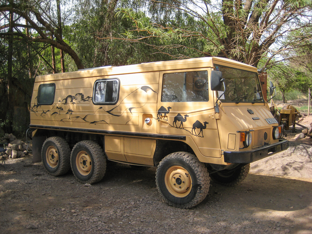 One of the most unique overland vehicles we've come across, an awesome Swiss Pinzgauer.