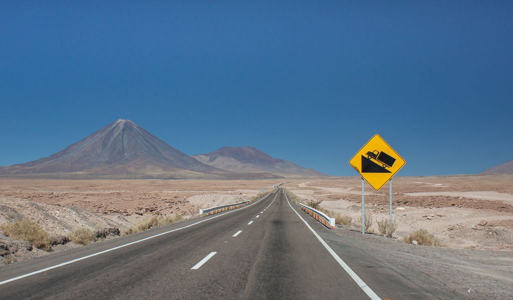 The long steep climb out of San Pedro de Atacama.