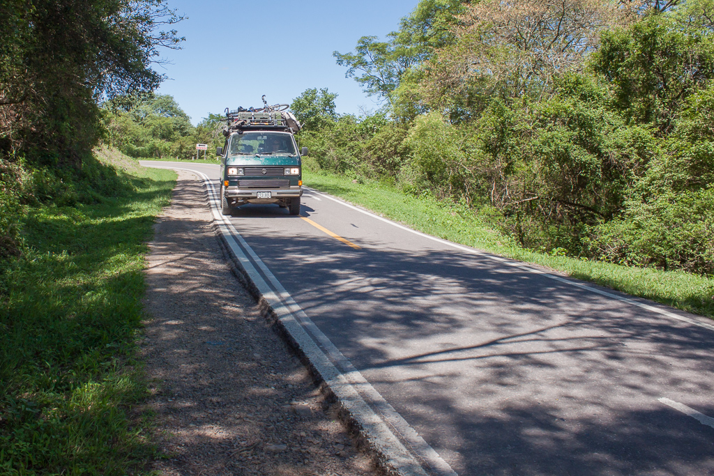 One of our favorite drives. Not much wider than a bike path, this little highways winds along a lush hillside on the way to Salta.