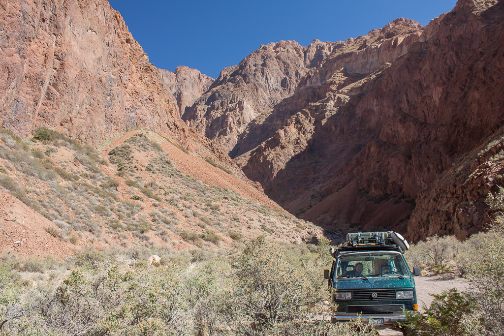 """Our fantastic boondock site on our way up the pass to the Chilean border. We found a mound of fur, skin, and bones here so we named this site """"Hair of the Bear""""."""