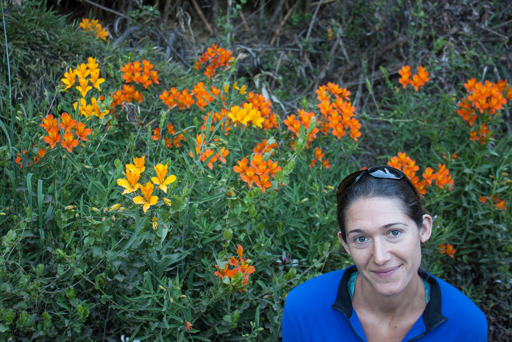 Emily and the wildflowers.