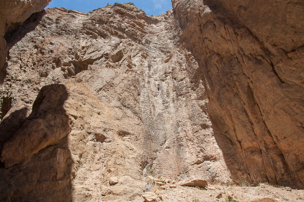 This is the first route we did, a stout 5.10 up an awesome wall.
