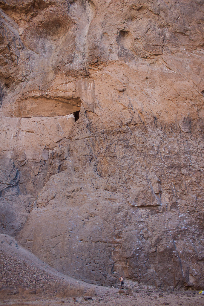 The scale of these walls was amazing. Note the tiny little Tim down at the bottom of another great 510.