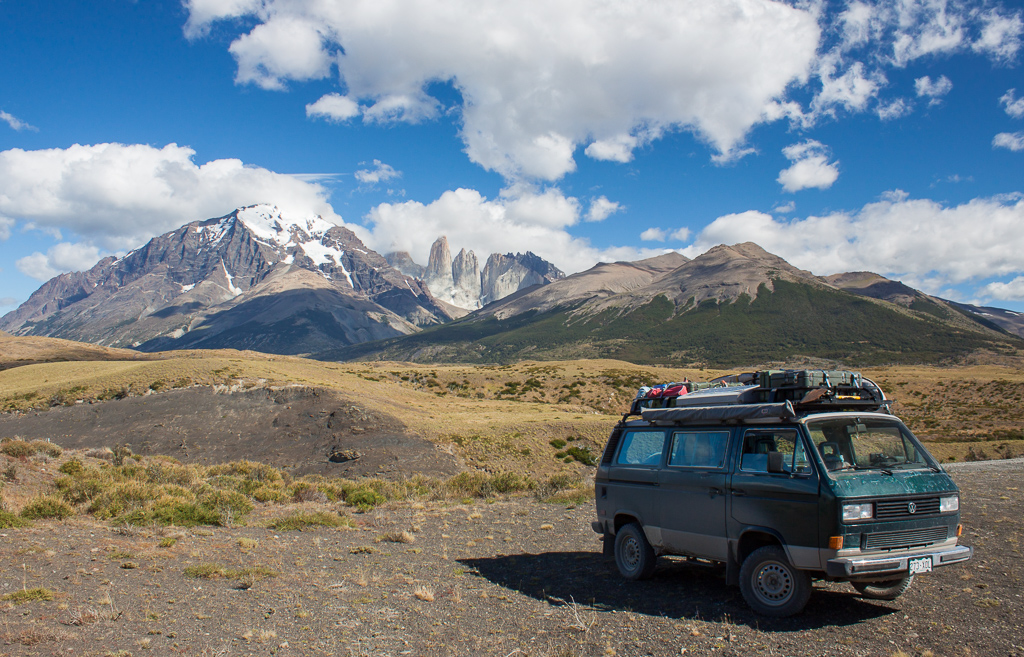 Chimera posing in Torres del Paine.