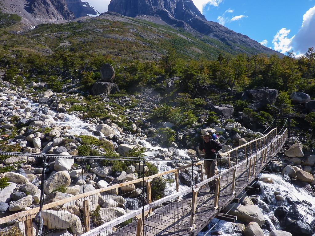 Corey on one of the many trail bridges.