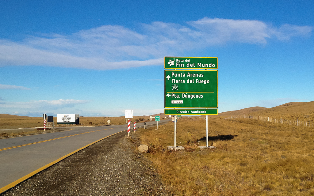 As we waved goodbye to Tierra del Fuego we turned back to take one last shot of the End of the World Route.