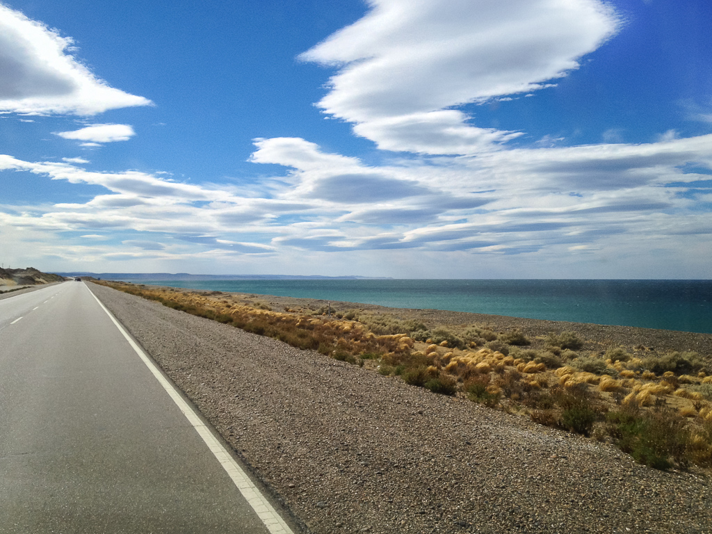 One of the windiest spots along the drive north, as the clouds show. We were tossed about like a beach ball.