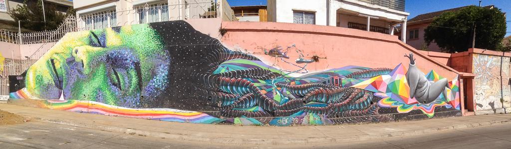 Street art, Valparaiso.