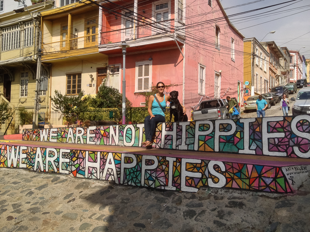 Our colorful neighborhood in Valparaiso.