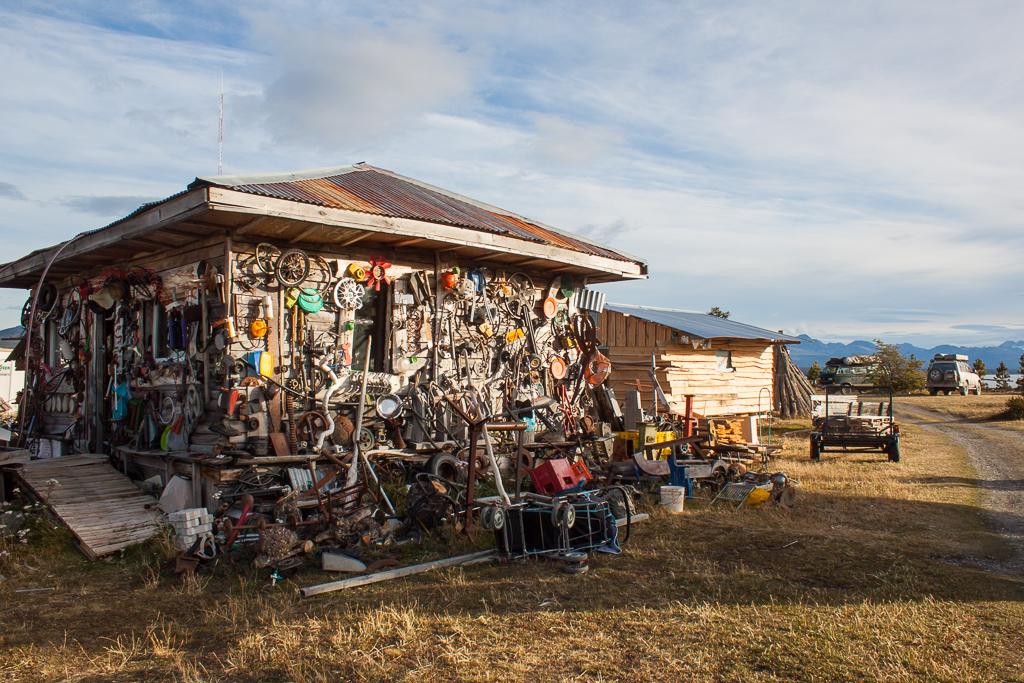 Junk art campground.