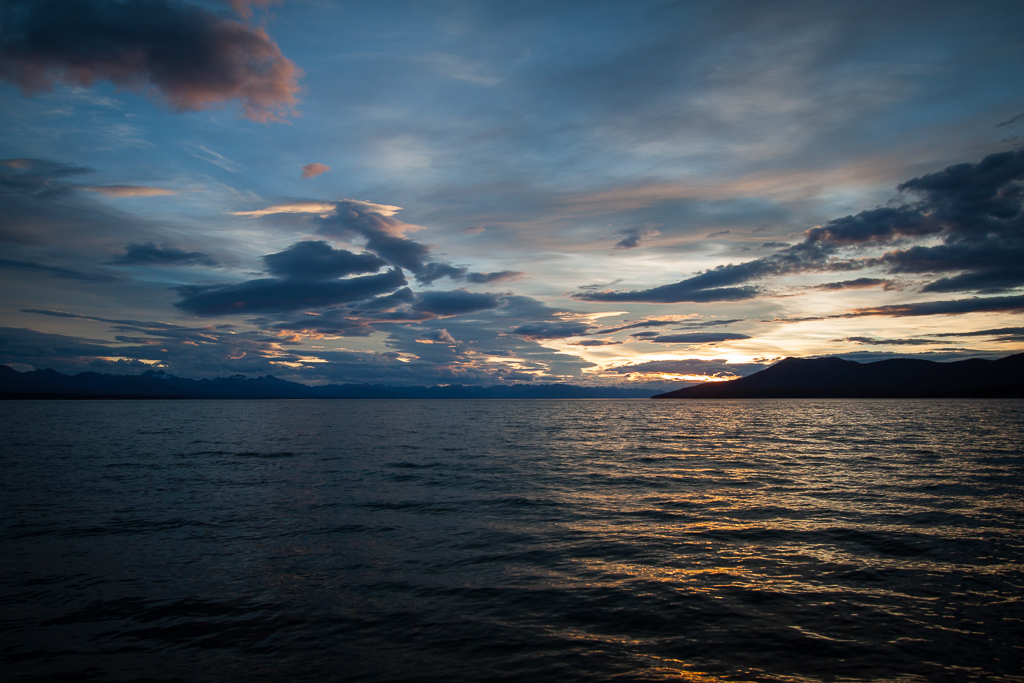 Our last sunset in Tierra del Fuego, and one of the best of the whole journey.