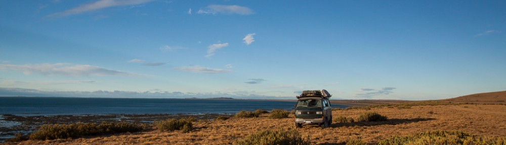Looking back at Tierra del Fuego from yet another great boondock spot.