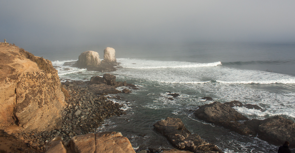 The amazing rolling breaks of Punta Lobos.