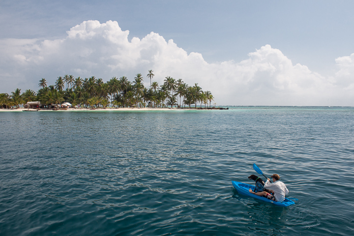 Kayaking to the nearest island