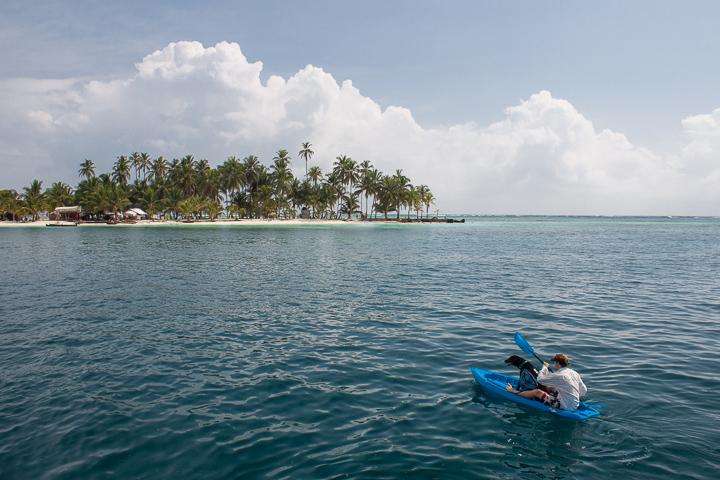 Kayaking to the nearest island